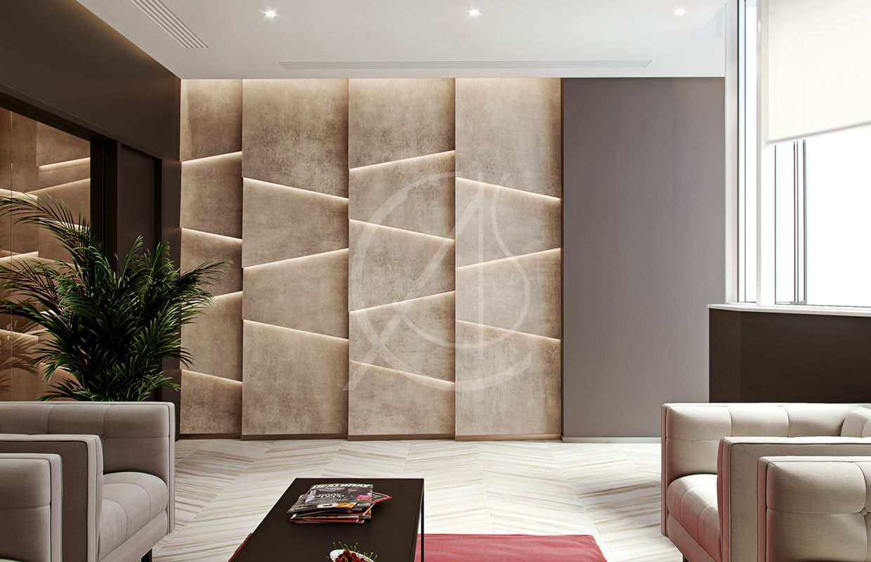 Modern Office Design For Administration Of East Capabilities Co Cas Office Wall Design Modern Office Design Wall Panel Design