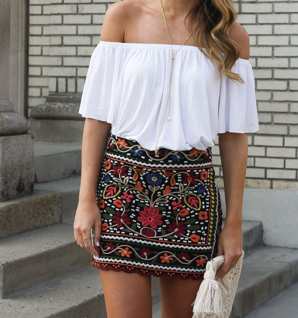 Embroidered Skirt | Twenties Girl Style