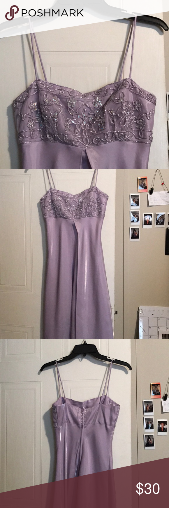Light purple evening gown. This dress is a size small and has been worn once.its light and silky. Parco Dresses Prom