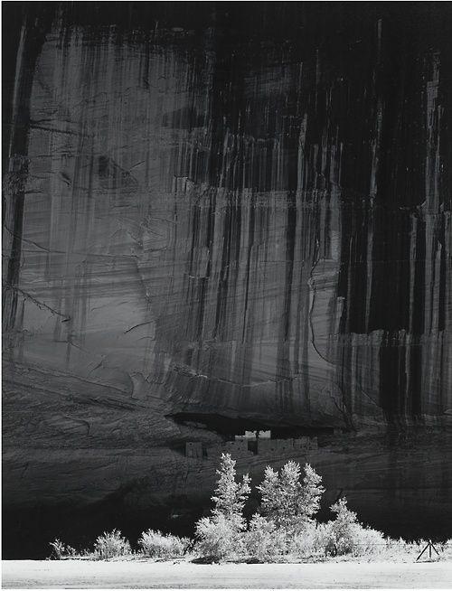 Ansel Adams (American, 1902-1984), White House Ruin, Morning, Canyon de Chelly National Monument, Arizona, 1949. Silver print, printed 1973/74.