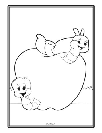 Apple Coloring Sheet The Mailbox Avec Images
