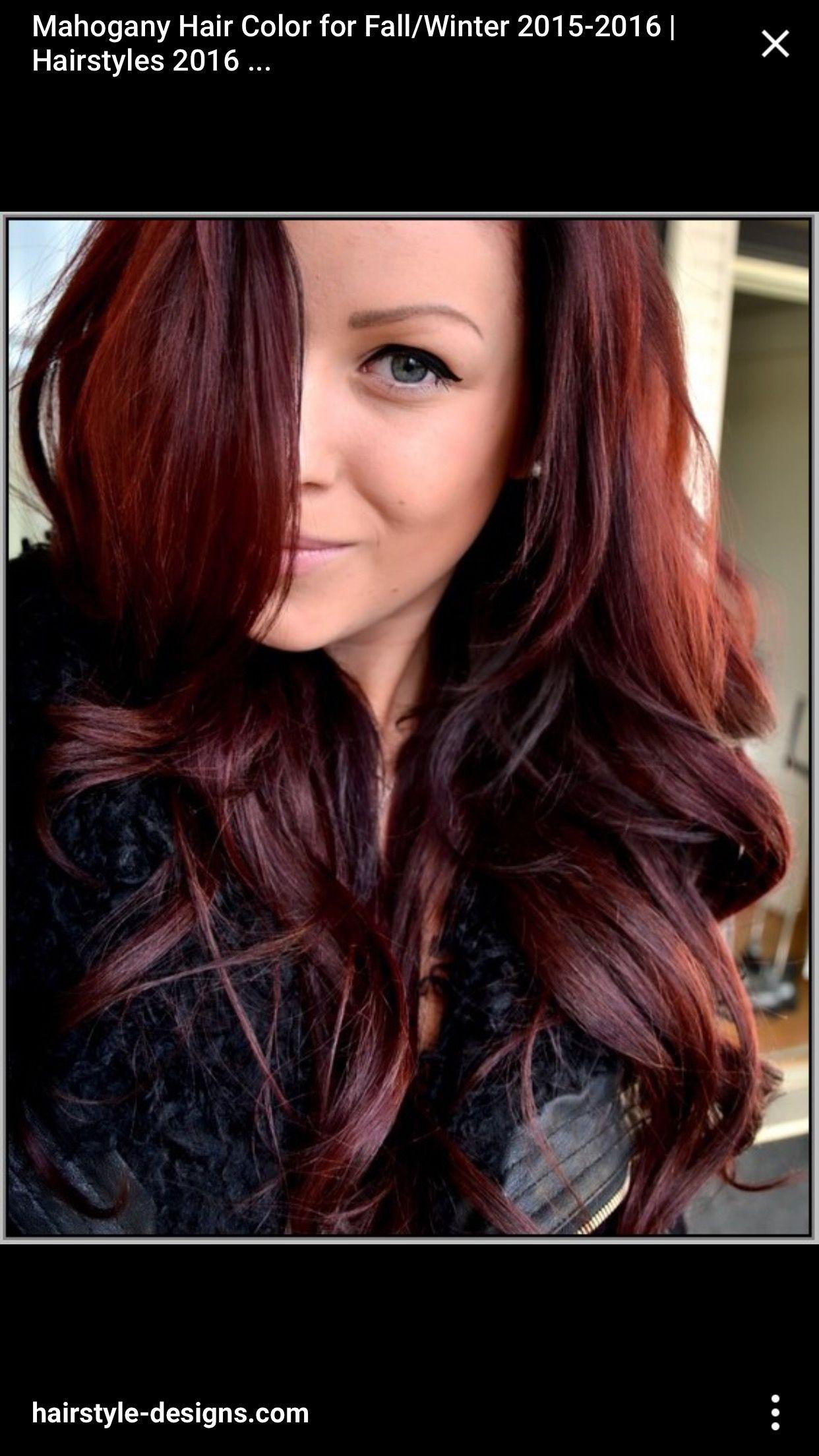 Pin by Madeline Bilan on Finals | Mahogany hair, Hair color ...