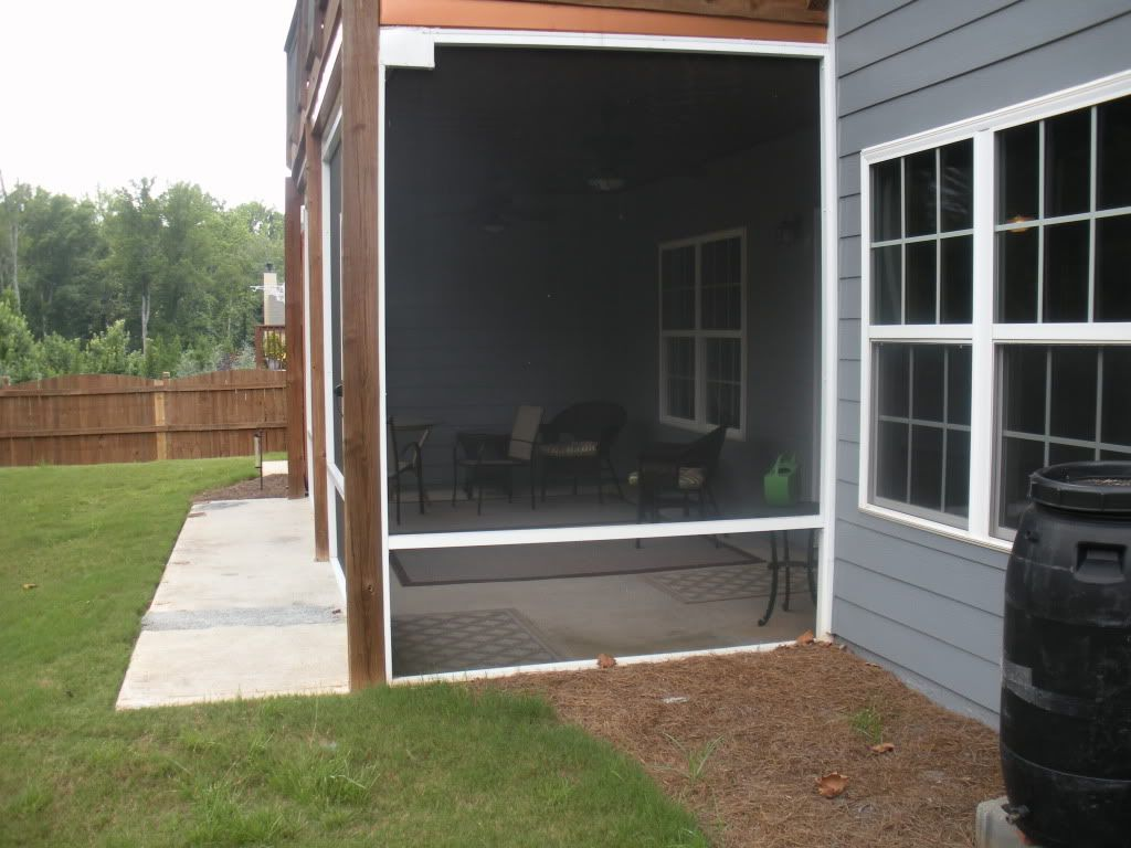 Simple Screened Porch Over Concrete Slab
