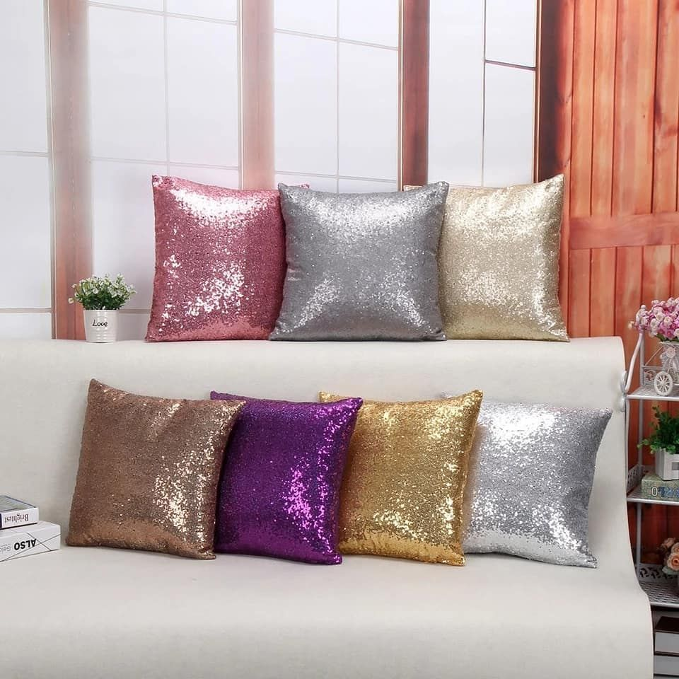 Be Creative Have Fun With This Magical Two Tone Reversible Sequin Be Creative Have Fun With This Magi Cushions On Sofa Sofa Throw Pillows Sequin Throw Pillows