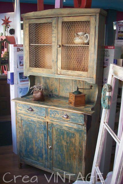 Crea VINTAGE | Muebles rusticos | DIY furniture building, Painting ...