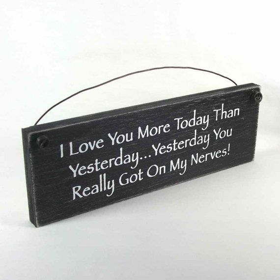 Sign I love you more today than by obxcountrystore on Etsy