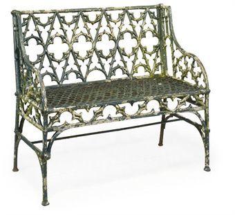 Ironwork chair.