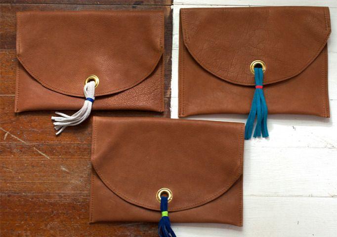 Fold Over Tassel Clutch