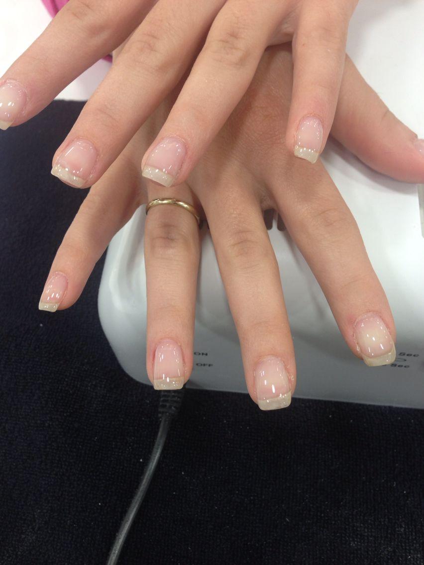 Gel Overlay 1 Clear Gel Nails Natural Acrylic Nails Gel Overlay Nails
