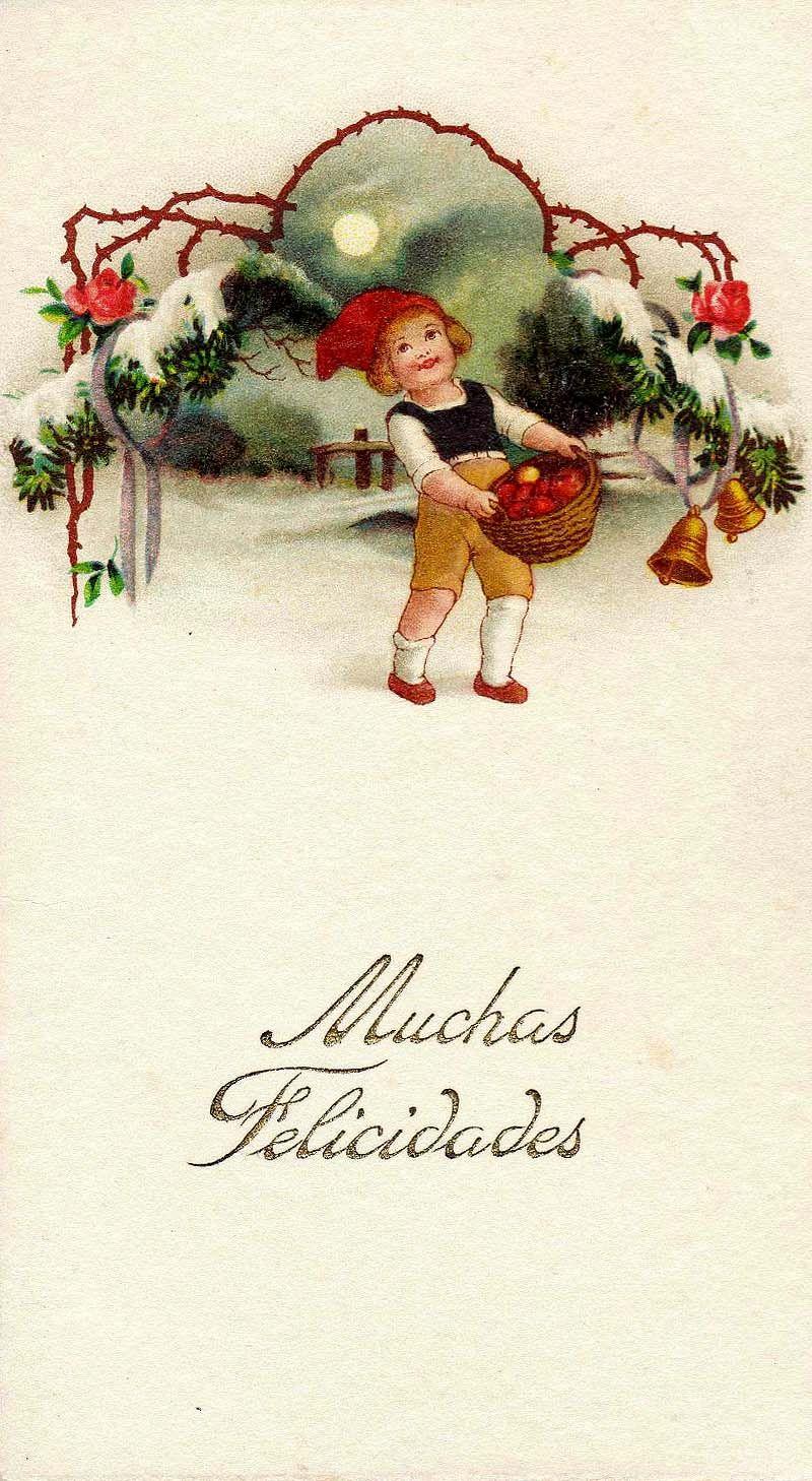 Spanish Christmas Card | Vintage Christmas Images | Pinterest ...