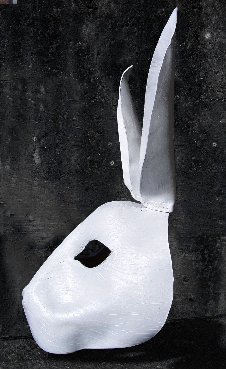 White Rabbit - Handmade Leather Mask by MisfitLeather | Then She ...