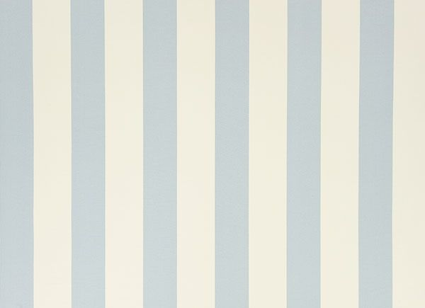 BATHROOM-bottom Half Wall, Light Blue Striped Wall Paper