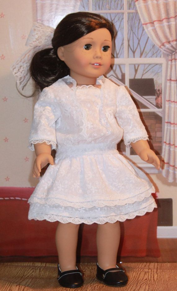 1910's Lace Dress for 18 Inch Dolls like Rebecca, Samantha, Modern American Girl and Others