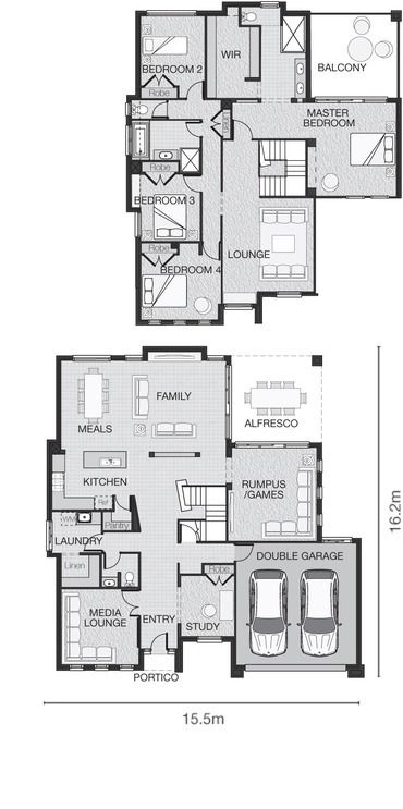 The Ella Standard Design Adenbrook Homes Large Family House Plan New House Plans Family House Plans
