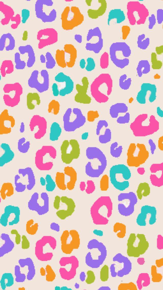 Rainbow Cheetah Animal Print Background Cute Patterns Wallpaper Animal Print Wallpaper