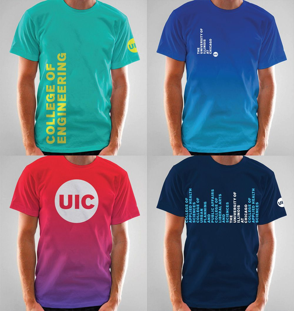 Shirt design words ideas - Brand New New Logo And Identity For Uic By Its Design Students And Staff