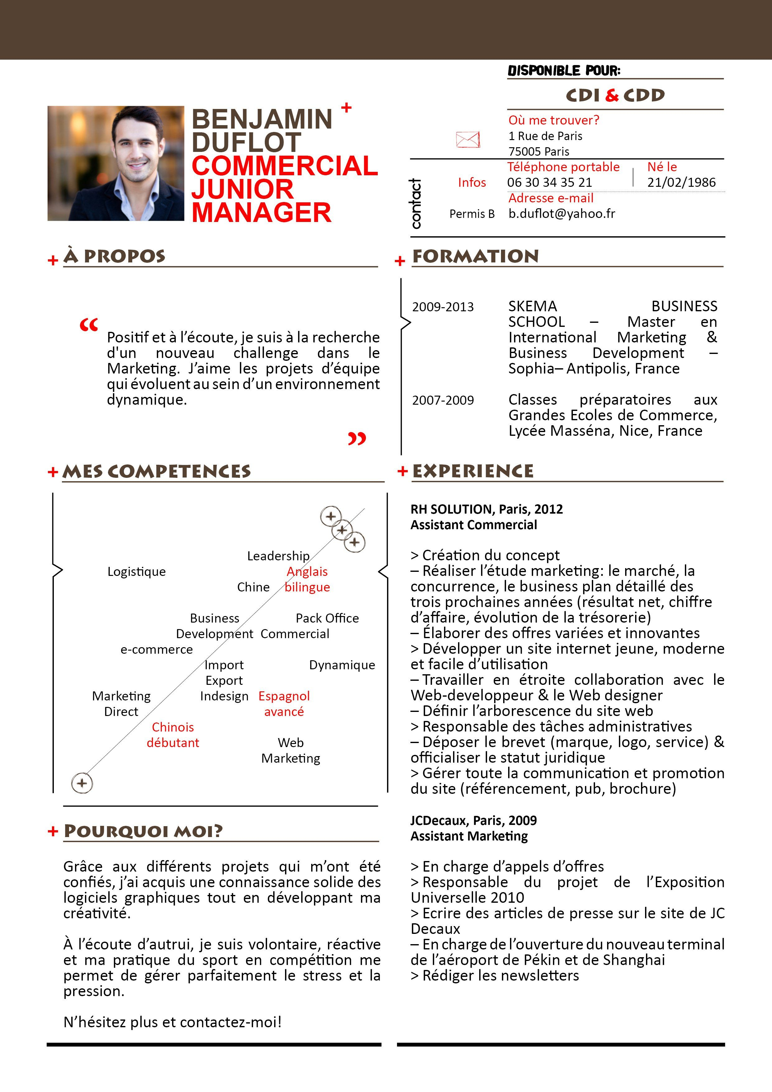 Curieux Mycvfactory Modele Cv Mise En Page Cv Skema Business School