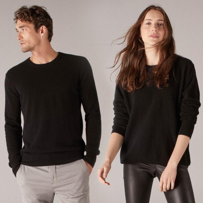 77cb089d7 The Essential  75 Cashmere Sweater Black