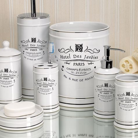 Exceptionnel Add A Parisian Touch To Your Bathroom With This Lovely Old Fashioned Paris  Bath Collection. These Bright White Elegant And Timeless Bath Accessories  Will ...