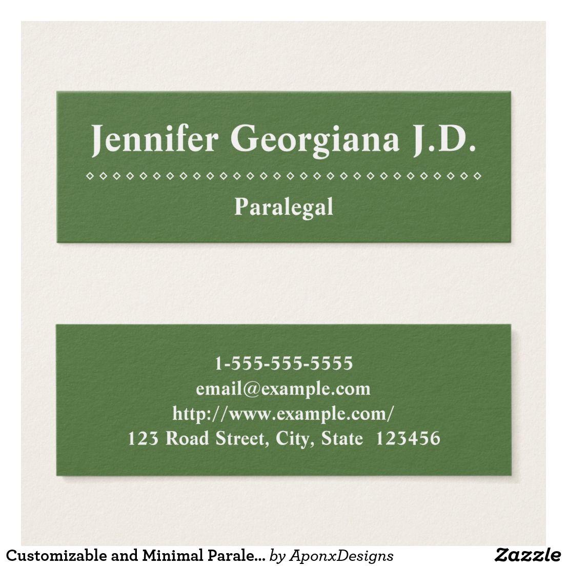 Customizable and minimal paralegal business card colourmoves