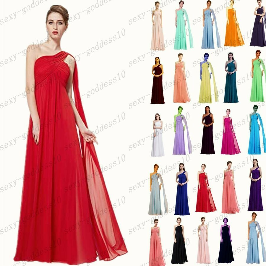 Long Chiffon Wedding Formal Party Ball Gown Prom Evening Bridesmaid Dress 6-28