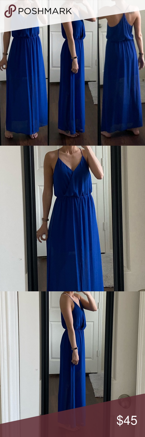 Vince Camuto Royal Blue Maxi Dress Royal Blue Maxi Dress Maxi Dress Blue Clothes Design [ 1740 x 580 Pixel ]