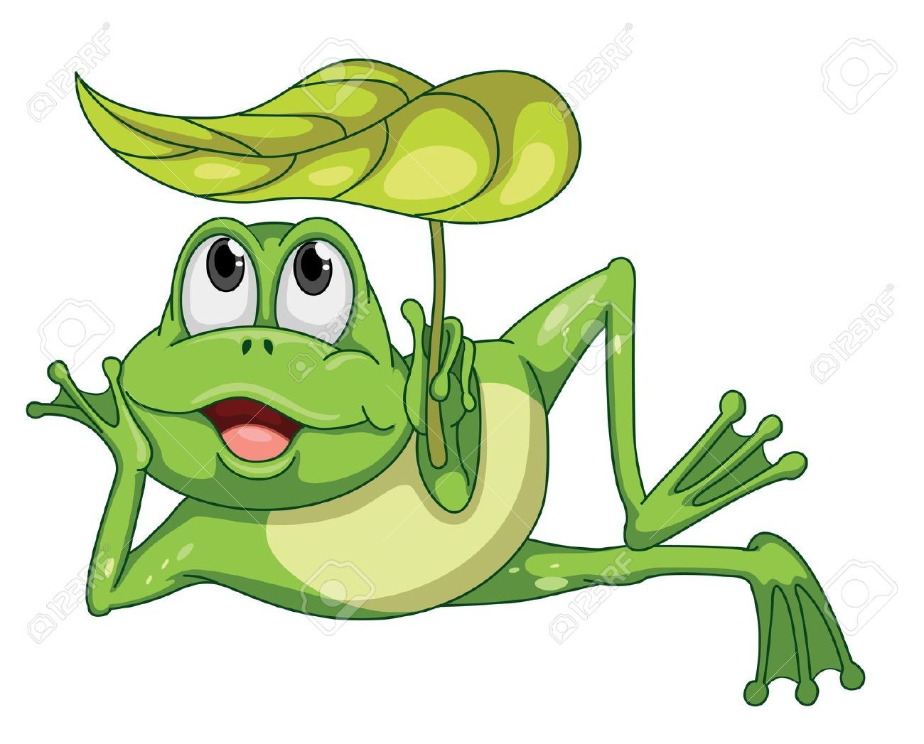 Detailed Illustration Of A Green Frog And A Leaf Frog Illustration Frog Cartoon Images Cute Frogs