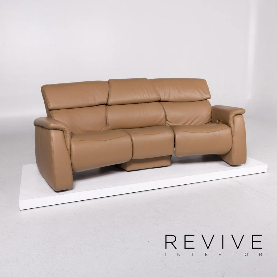 Himolla Leder Sofa Cognac Braun Dreisitzer Relaxfunktion Funktion Couch 11825 In 2020 Sofa Cognac Sofa Couch