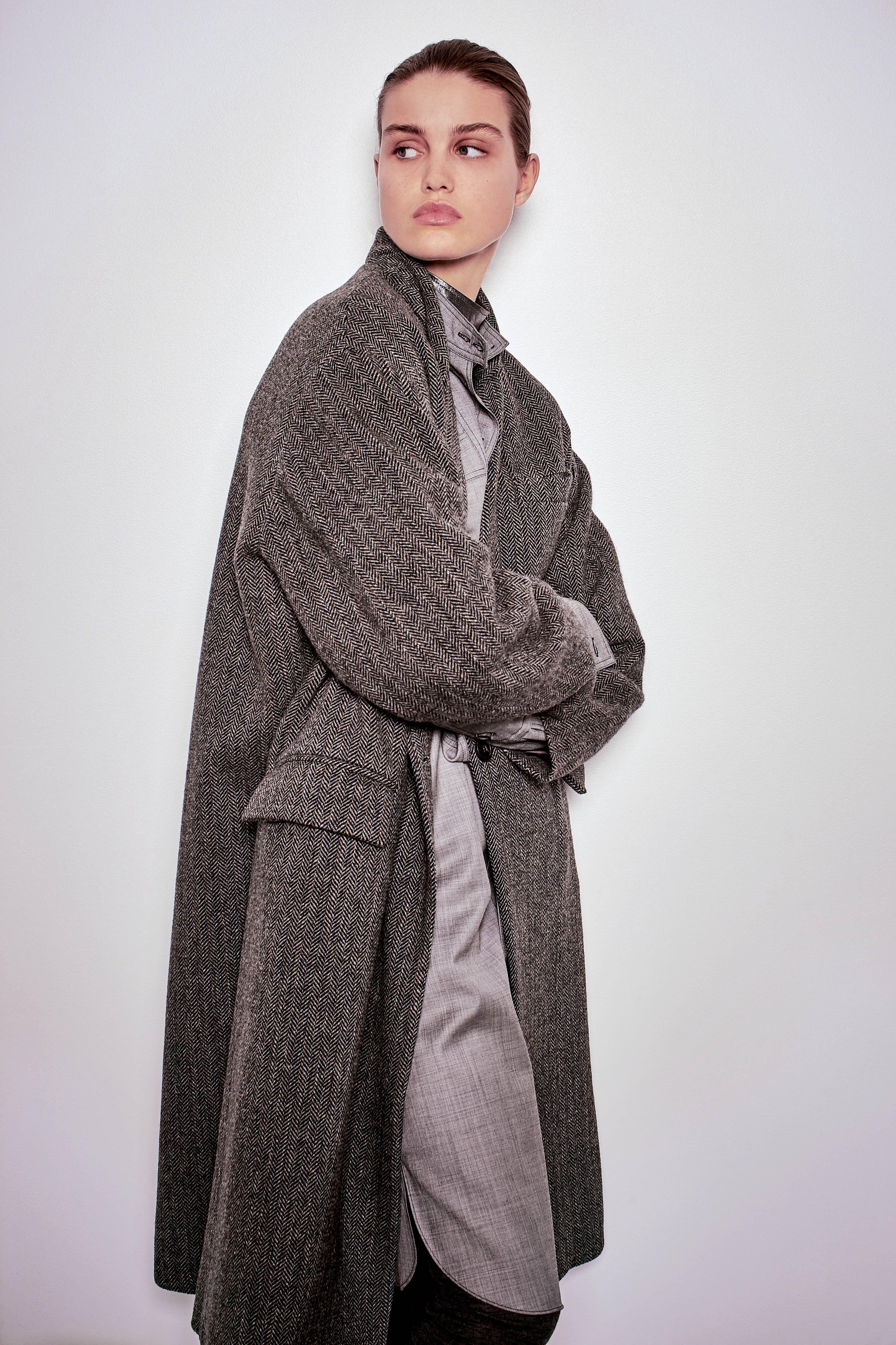 isabel marant etoile fall winter 39 16 henley coat grey also. Black Bedroom Furniture Sets. Home Design Ideas