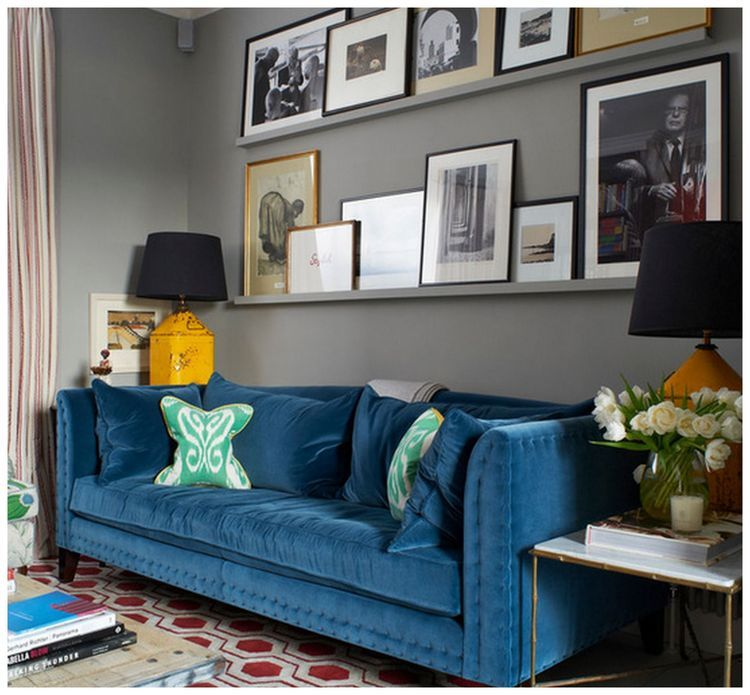 Not Sure What to Hang Over Your Sofa? Try One of These 7 Ideas
