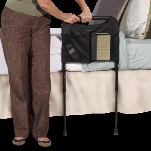 Able Life Bedside Sturdy Rail, Black Adjustable legs
