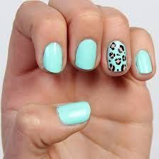 These naiks are really cute and easy to do i tried it myself light blue with leopardcheetah accent nails solutioingenieria Choice Image