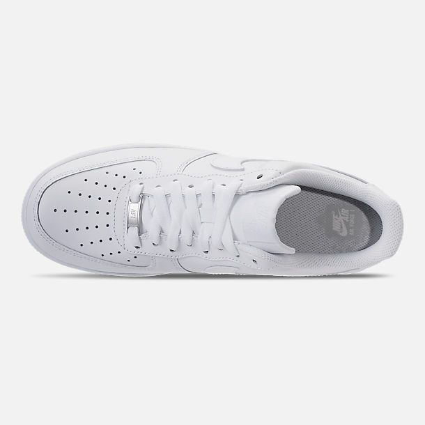 low priced a8f9b babba Top view of Men s Nike Air Force 1 Low Casual Shoes in White White