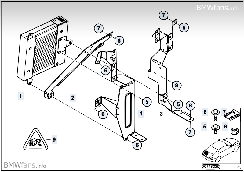 Amplifier Holder Harman Kardon Hi Fi Bmw 3 E46 318i N46 Bmw Parts Catalog Home Decor Decals Home Decor Decor
