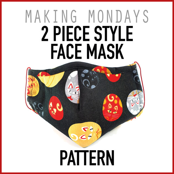 2 Piece Style Face Mask Pattern In 2020 Face Mask Pattern Face