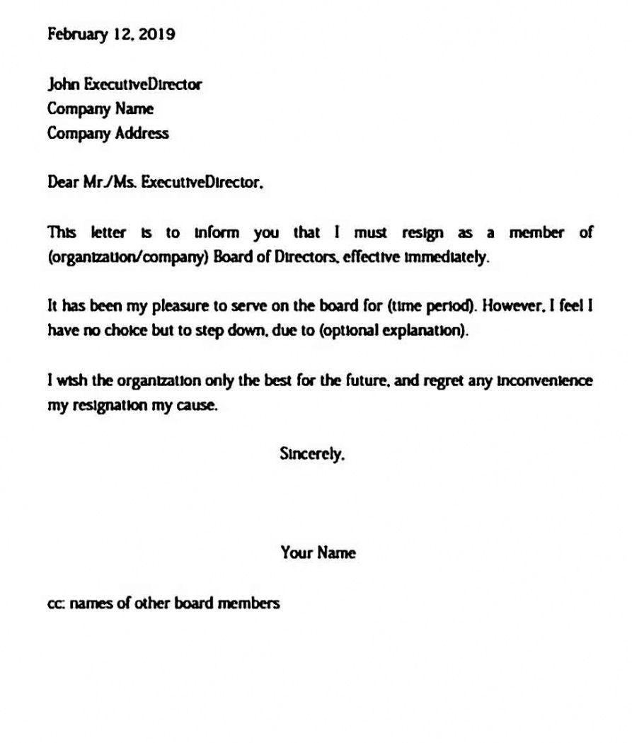 Explore Our Sample of Resignation Letter From Church Board