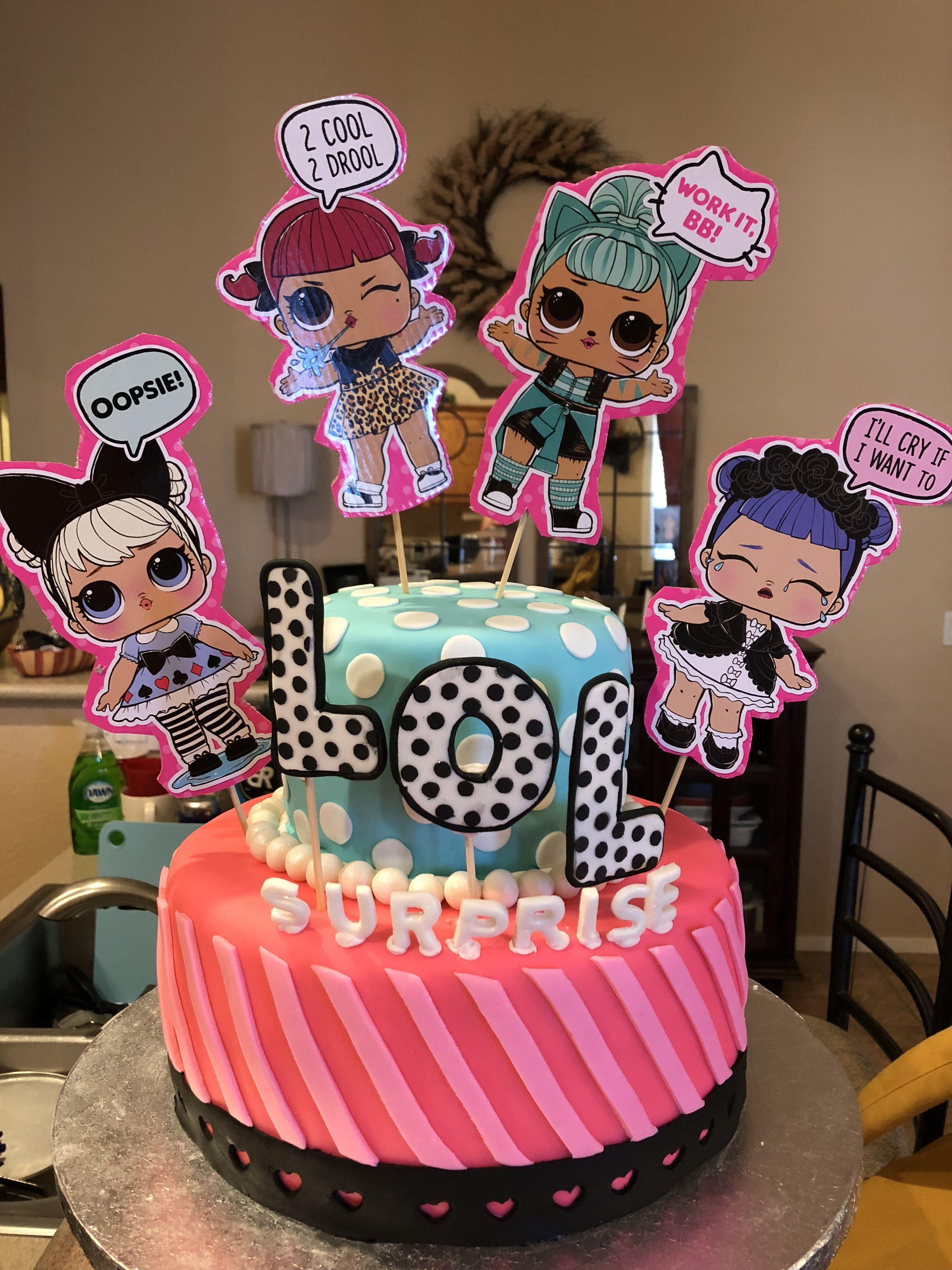 Lol suprise birthday cake suprise birthday party lol