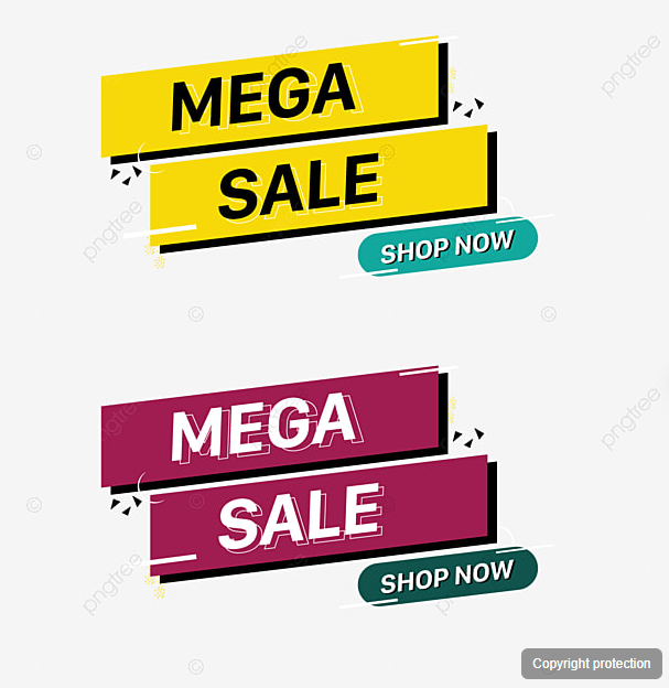 Creative Banner Shop Now Mega Sale Creative Banner Shop Png And Vector With Transparent Background For Free Download Creative Banners Banner Shop Now