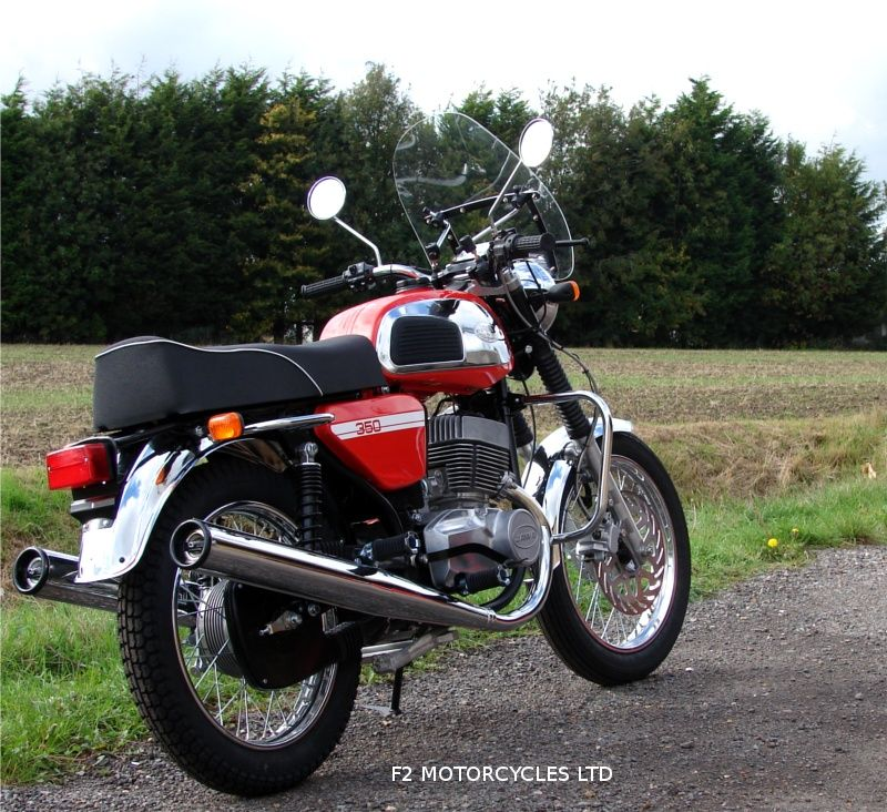 Jawa 350 Retro With Optional Screen Vintage Bikes Classic