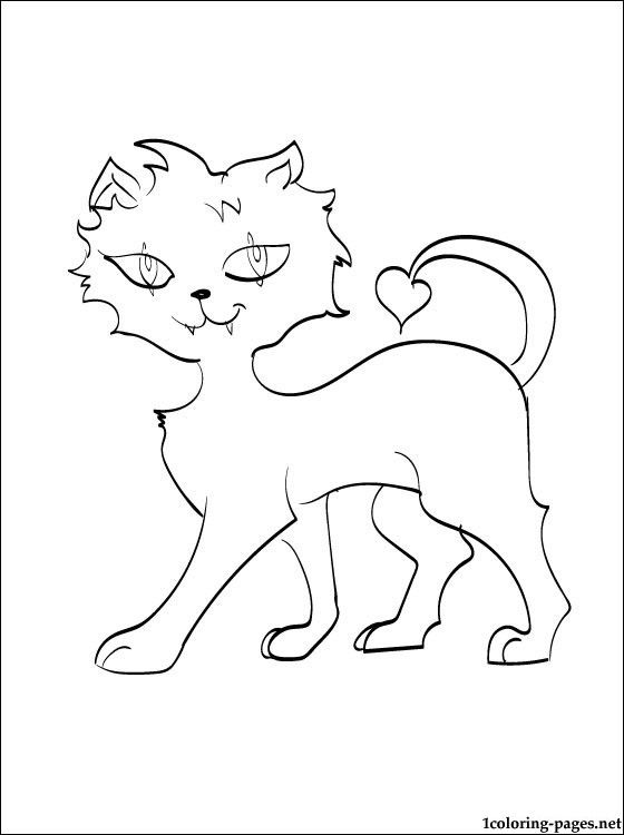 Crescent Monster High Coloring Page