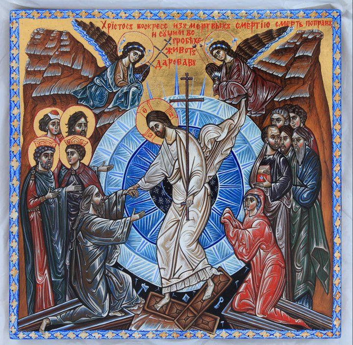 Image result for ancient icon the resurrection
