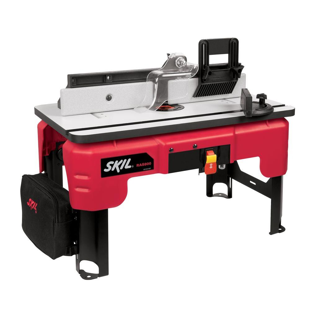 Skil Router Table With Folding Leg Design Ras800 The Home Depot In 2020 Router Table Woodworking Jigs Essential Woodworking Tools