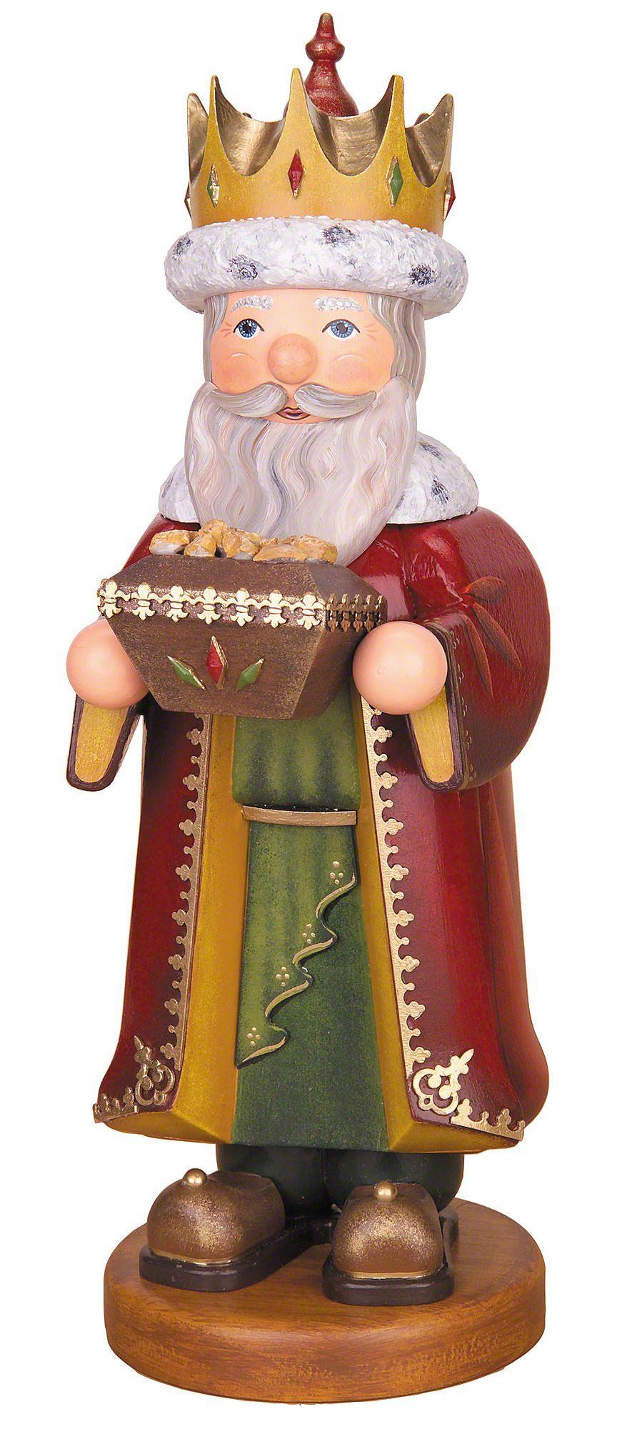 Hubrig Räuchermann Heilige 3 Könige Caspar 35 cm