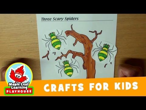 halloween spider craft for kids maple leaf learning playhouse youtube - Halloween Youtube Kids