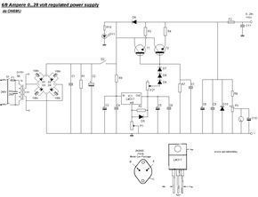 0 28v 6 8a Power Supply Lm317 2n3055 Power Supply Power Supply Circuit Electrical Circuit Diagram