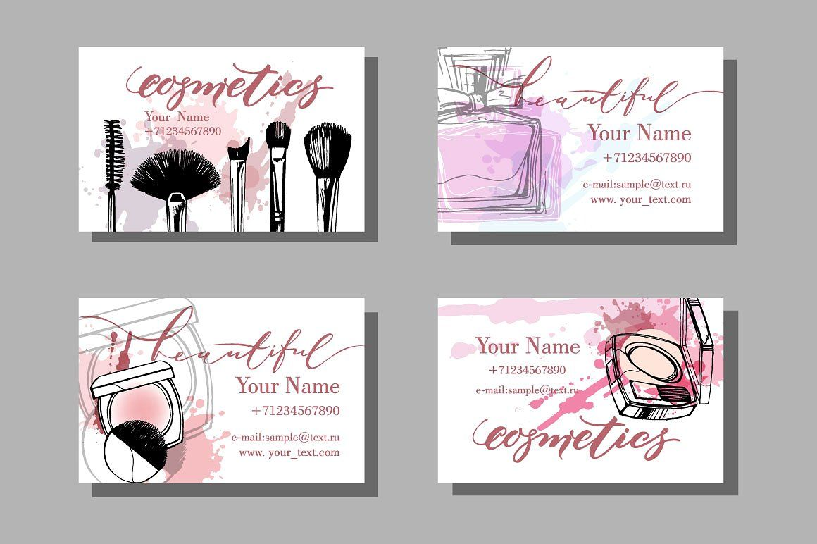 Templates Makeup Business Card Con Imagenes Plantillas De Tarjetas