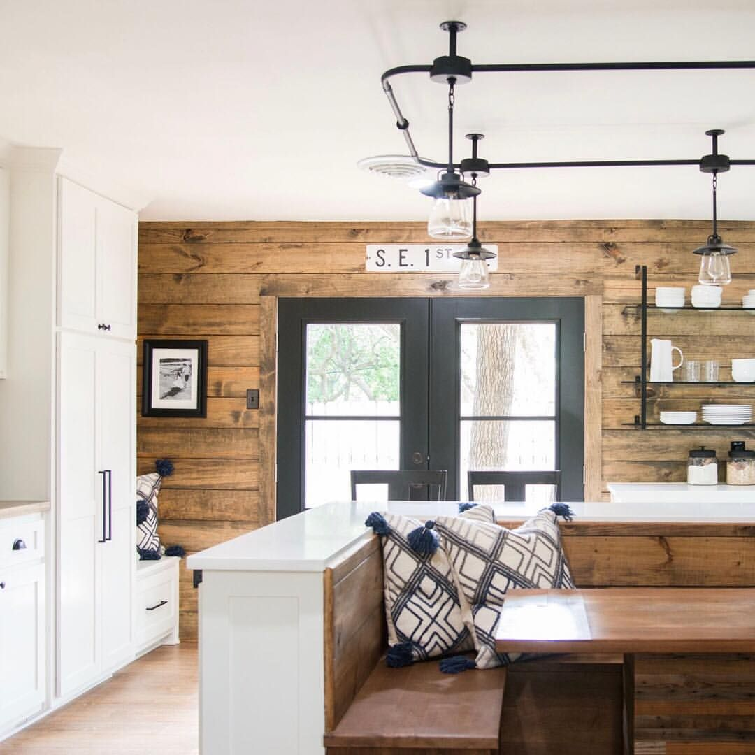 Fixer upper shiplap kitchen - We Love This Kitchen From Last Week S Reveal The White Cabinets Stained Shiplap