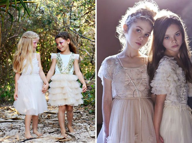 bohemian and vintage inspired flower girls dresses by Tutu Dumonde ...