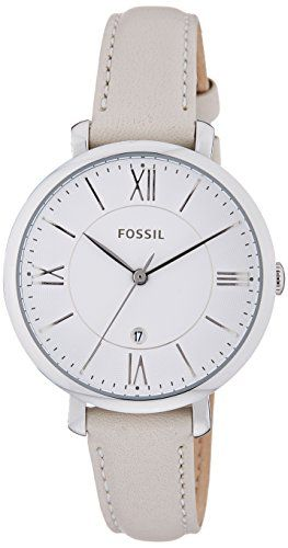 Fossil damen armbanduhr jacqueline analog quarz leder es3793