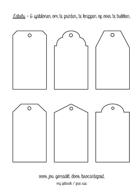 Nieuw DIY* Brocante labels van papier | Afdrukbare labels, Sjablonen GS-04